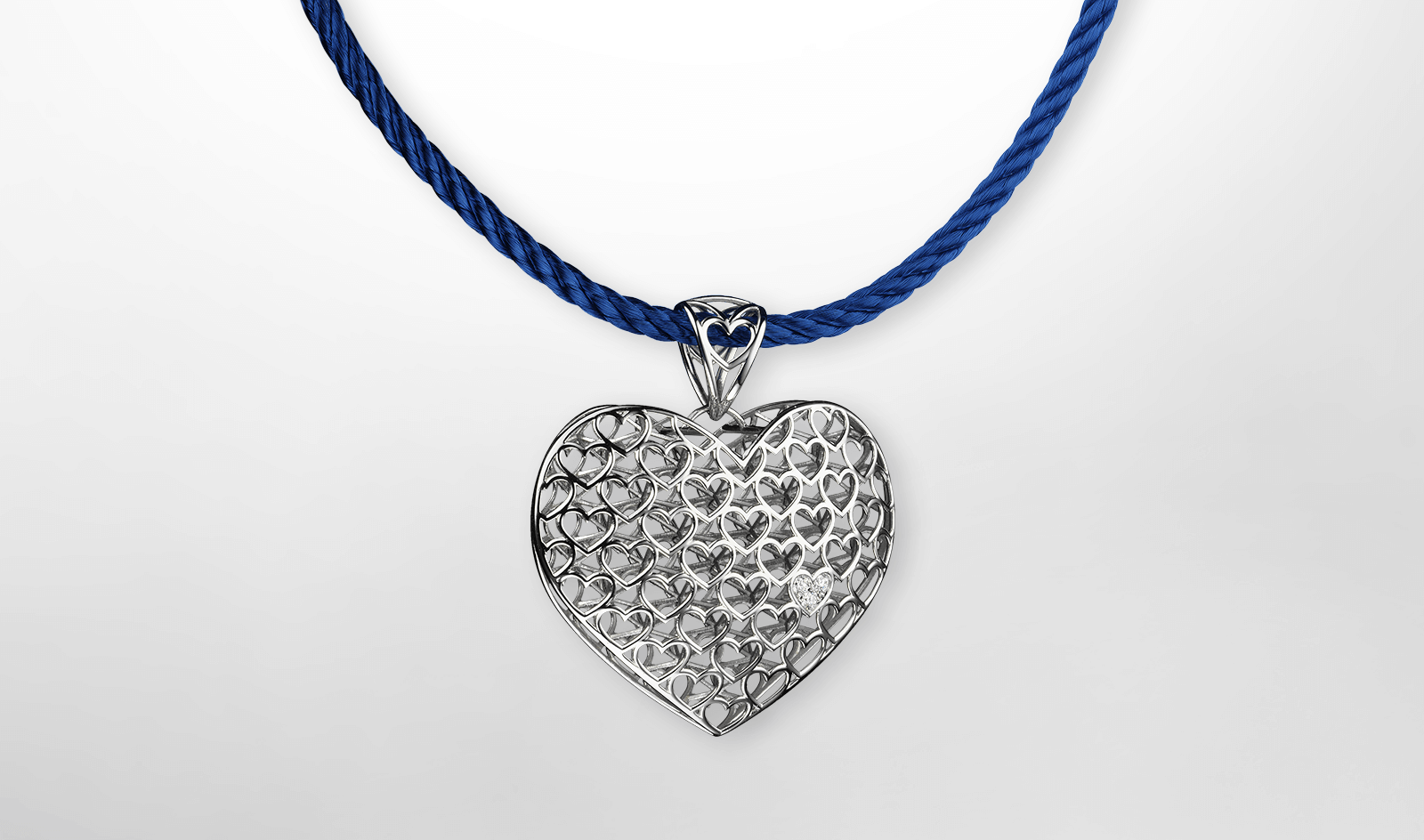 Pendant Heart (crowned)